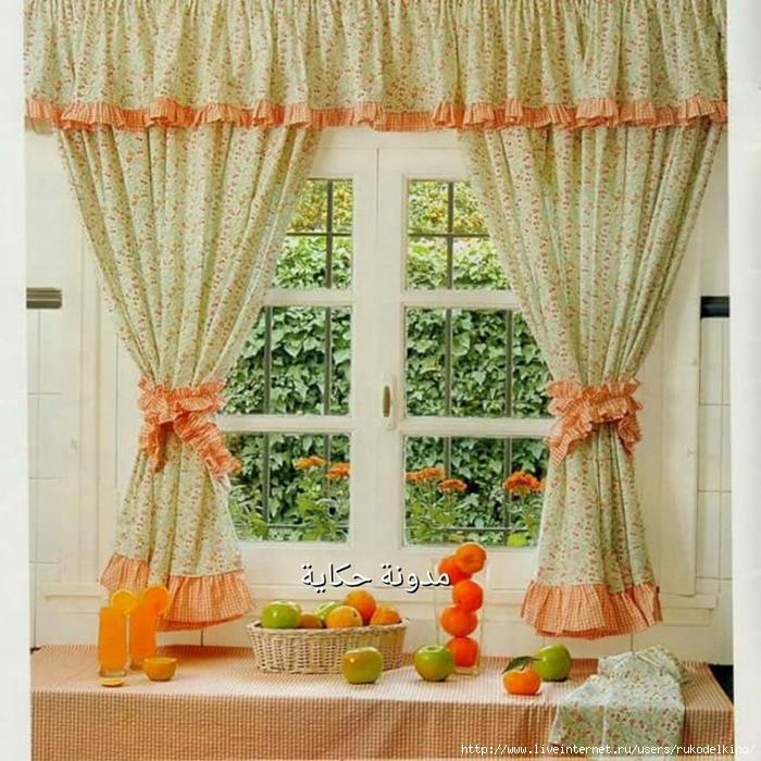 Шитье штор своими руками для кухни