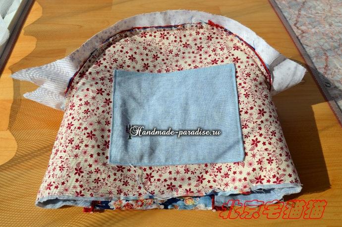 Круглая сумочка с кожаными ручками. Шьем сами (16) (690x457, 373Kb)