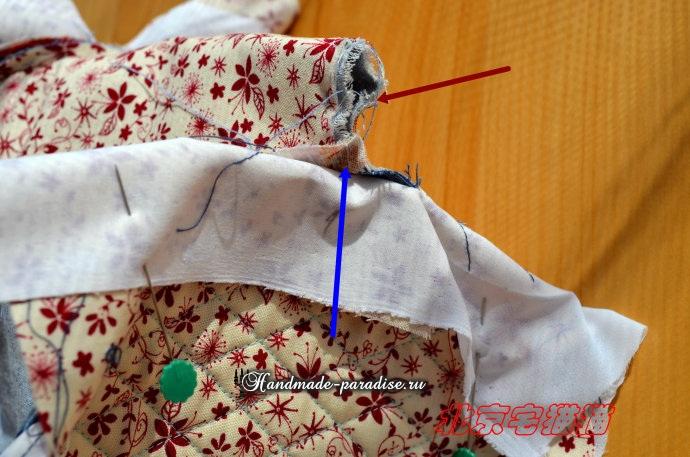 Круглая сумочка с кожаными ручками. Шьем сами (20) (690x457, 307Kb)
