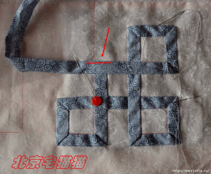 Лоскутное панно-ковер на стену. Пошаговый МК (48) (690x570, 275Kb)