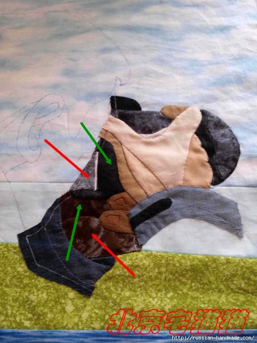 Лоскутное панно ФОТОГРАФ. Этапы создания (11) (525x700, 279Kb)