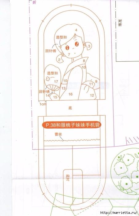 Аппликация на детских кошельках и сумочках. Шаблоны (13) (452x700, 169Kb)