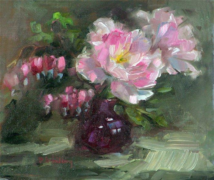 """alt=""""Цветочные натюрморты художницы Barbara Schilling.""""/2835299__1_ (700x586, 120Kb)"""
