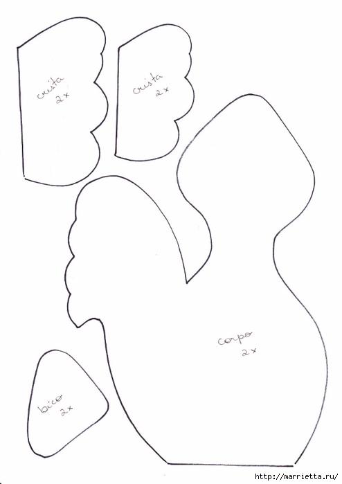 Детские текстильные венки, с петушками и собачками (4) (494x700, 79Kb)