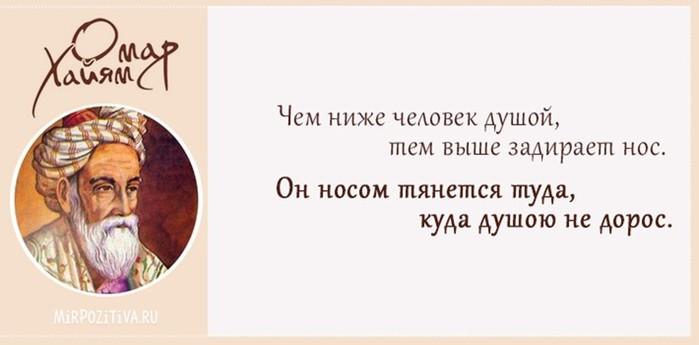 Лучшие высказывания Омара Хайяма в картинках (+видео)