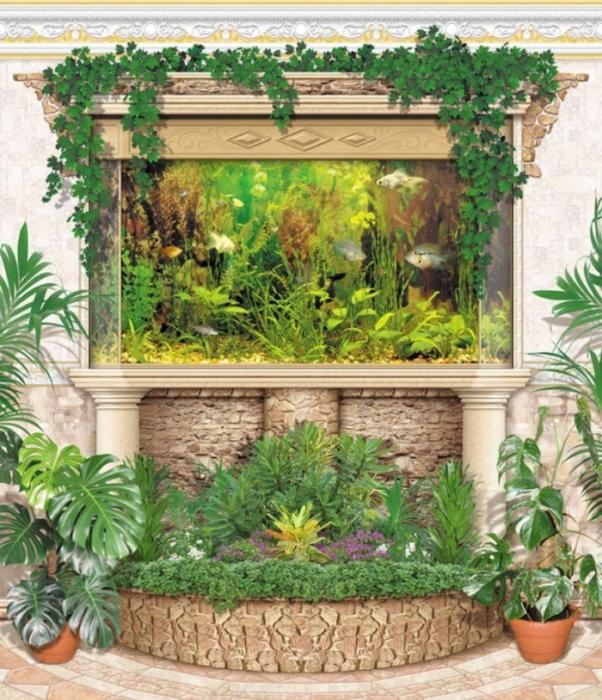Дизайн аквариума для цветов