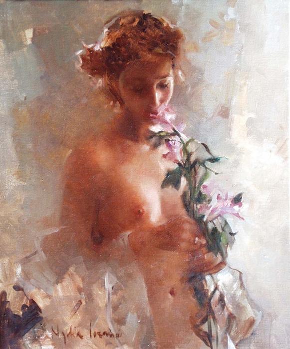 """Nadya Lozano - Spanish Impressionist Figurative painter - Tutt""""Art@ (1) (581x700, 423Kb)"""