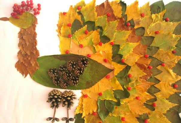Поделка из листьев в детский сад