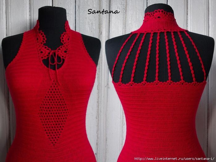 Красное платье с разрезом (переделка) (700x526, 219Kb)