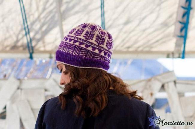 Жаккард спицами. Вяжем шапочку (3) (651x430, 218Kb)