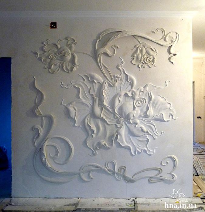 Объемная лепка на стенах