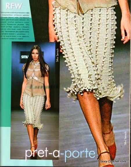 Самая Модная Модель Вязаной Юбки