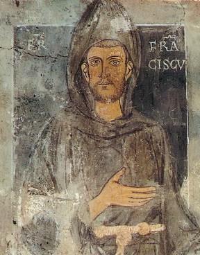 Старейшее из известных изображений Франциска, созданное ещё при его жизни находится на стене монастыря св. Бенедикта в Субиако (288x368, 46Kb)