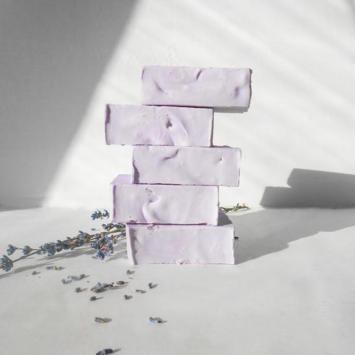 Натуральное взбитое мыло с лавандой
