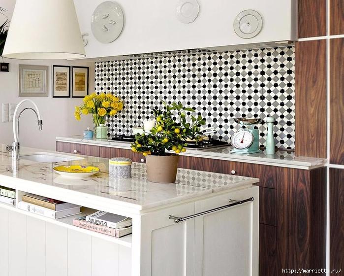 Фартук из плитки для кухни. Подборка фотографий (20) (700x560, 309Kb)