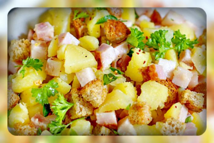 Тёплый картофельный салат с беконом (700x469, 182Kb)