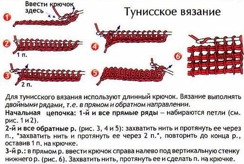 Вязание изнаночных рядов крючком