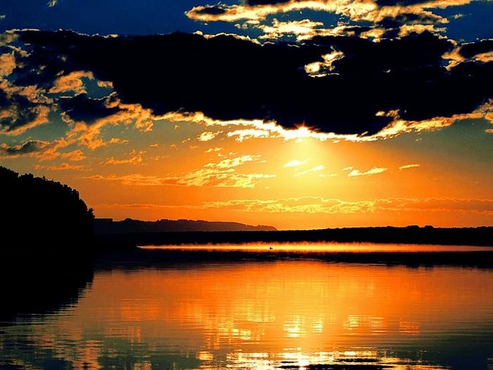 Восход на реке Томь. (700x525, 262Kb)