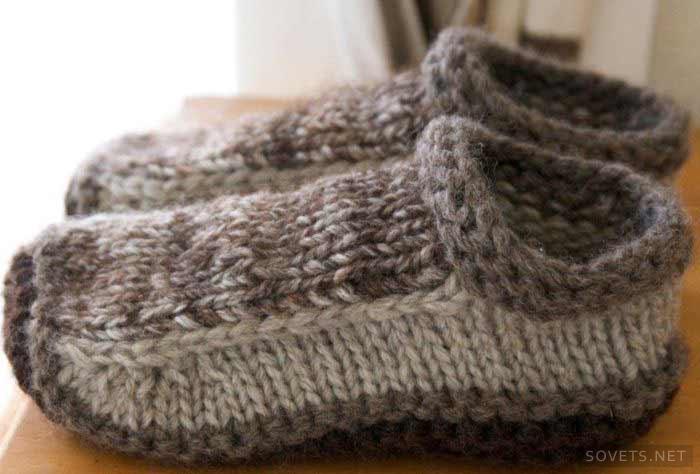 Вязание варежки спицами простой узор