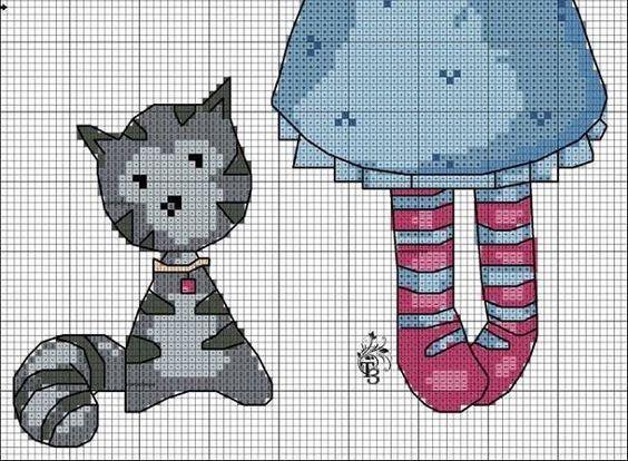 Схемы вышивки девочки горджус