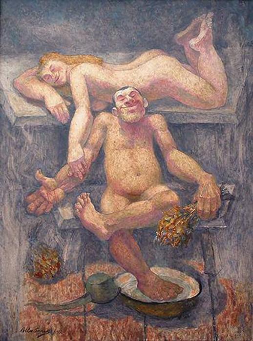 Русские женщины и мужчины в бане — 11