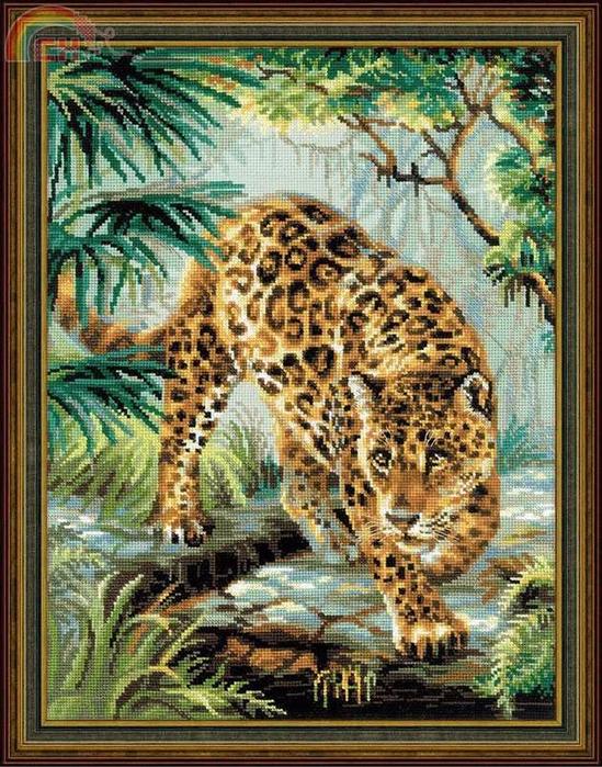 Вышивка крестом хозяин джунглей