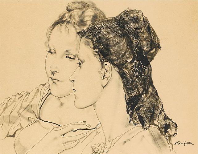 Женщины в мантилье (Femmes à la Mantille). 1953 (642x500, 682Kb)