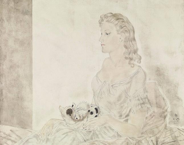 + Женщина с котенком (Femme au Petit Chat). 1939 (646x507, 232Kb)