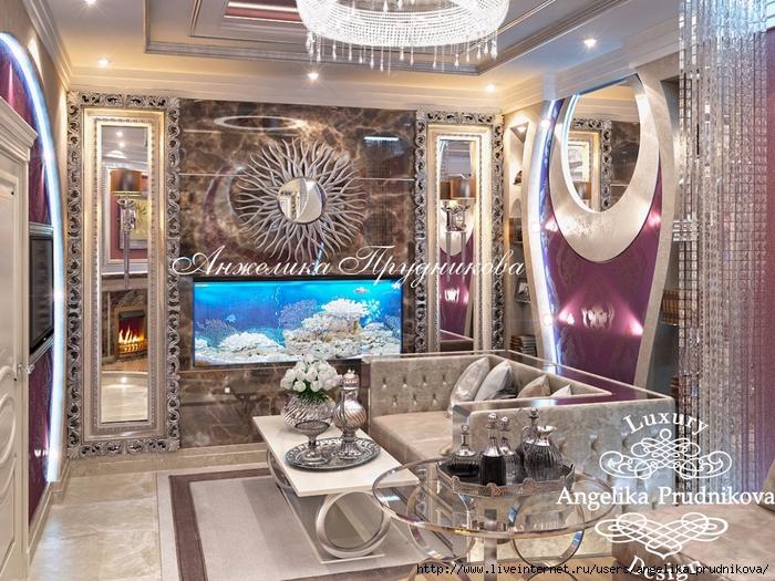 Интерьер квартиры в стиле Ар-Нуво в ЖК город Набережных
