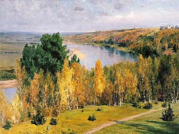 Поленов Василий Дмитриевич (1844 - 1927). Золотая осень. 1893 (700x525, 449Kb)