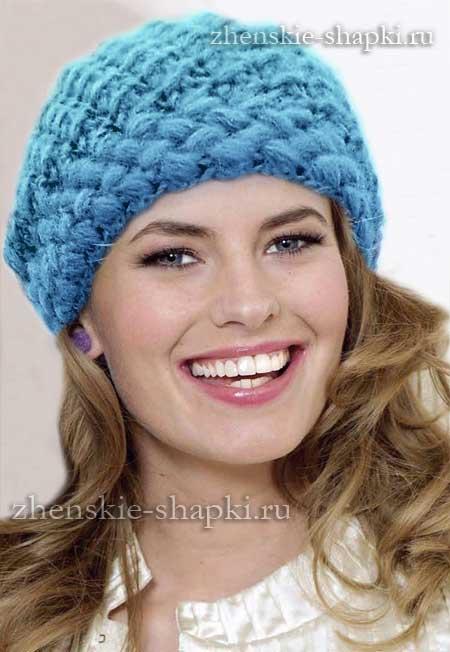 Вязаная шапка женская крючком схема