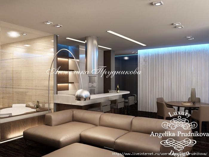 Дизайн-проект мужской квартиры в скандинавском стиле в ЖК Город яхт.