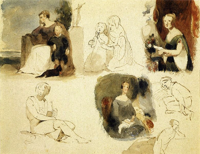 780px-Sheet_of_Figure_Studies_by_Thomas_Sully (700x538, 480Kb)
