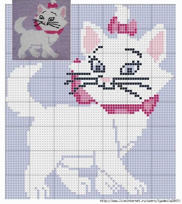 Кошки рисунок для вязания