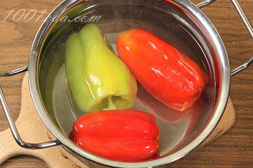 Фаршированный перец без риса пошаговый рецепт с