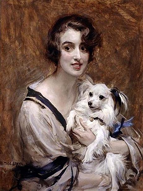 lady-with-pomeranian (461x615, 412Kb)