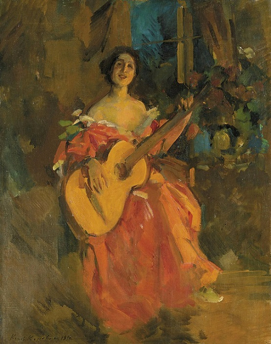 Lady with a guitar, 1912 (552x700, 440Kb)