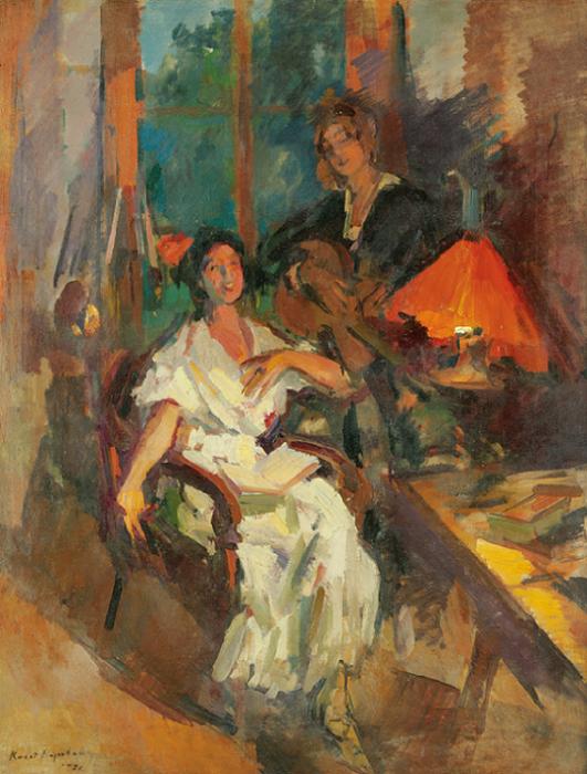 Вечерний дуэт. 1921.. (531x700, 708Kb)