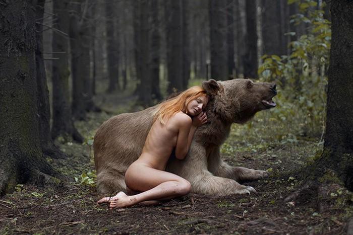 Женщины и животные   веселые фотографии об их отношениях