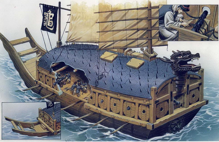 корабль-черепаха кобуксон корея 1 (700x453, 395Kb)