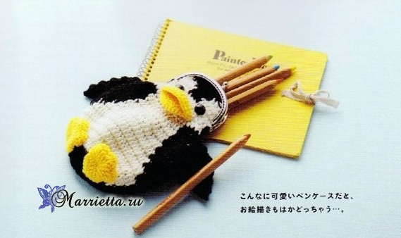 Детские кошельки крючком. Слоник, пингвин и черепашка (2) (569x338, 153Kb)
