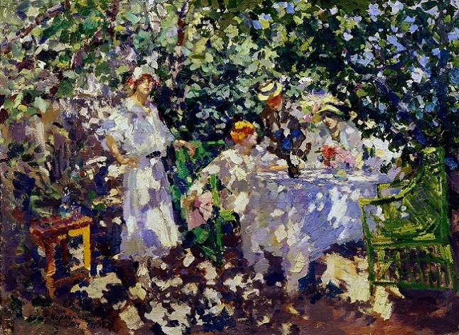 В саду. Гурзуф. 1914. (646x472, 574Kb)