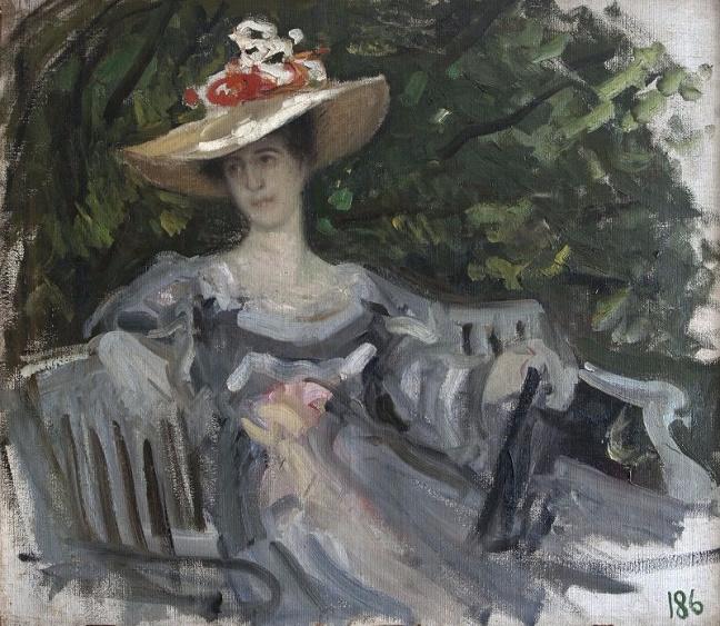 Портрет княгини М.К.Тенишевой. 1899 (648x563, 409Kb)