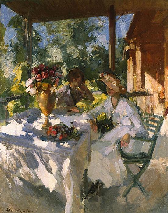 Две дамы на террасе. 1911 (551x700, 578Kb)