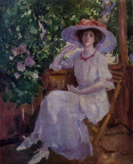 Портрет артистки Н.И. Комаровской. 1910-е (567x700, 485Kb)