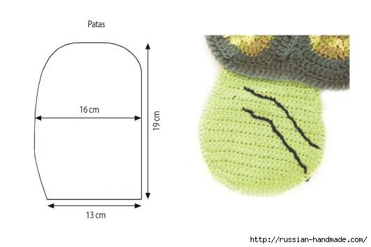 Вяжем крючком забавный коврик ЧЕРЕПАХУ (7) (533x355, 57Kb)