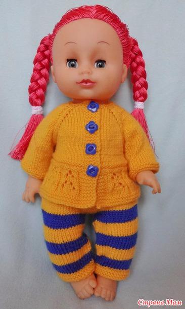 Вязание штанишек на кукол 165