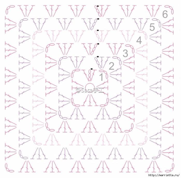Корзинка-органайзер бабушкиными мотивами крючком (1) (700x686, 276Kb)
