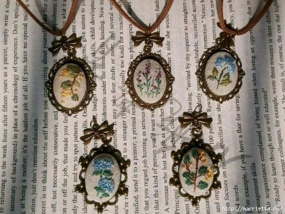Медальоны с вышивкой. Как вышивать (22) (569x427, 251Kb)