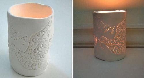 Светильник из полимерной глины своими руками 4